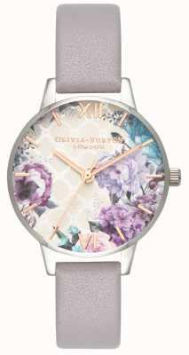 Olivia Burton | Frauen | Glashaus | lila graues Lederband | OB16EG104