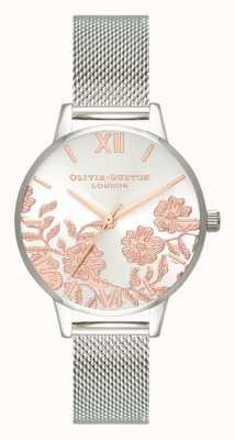 Olivia Burton | Frauen | Spitzendetail | Edelstahlgewebe Armband | OB16MV90