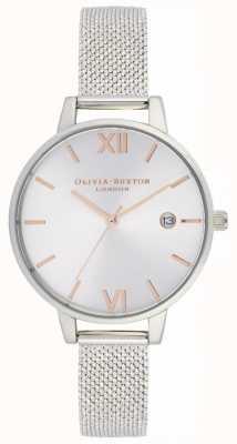 Olivia Burton   Frauen   sunray demi date   Stahl Boucle Mesh Armband   OB16DE01