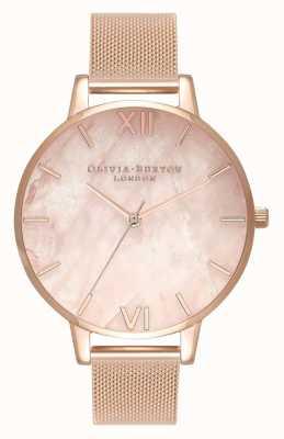 Olivia Burton | Frauen | halb kostbar | Roségold-Mesh-Armband | OB16SP01