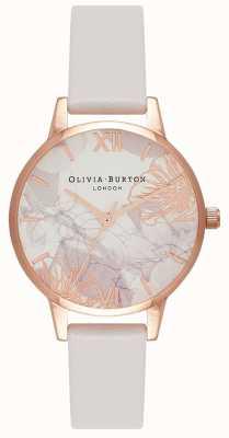Olivia Burton | Frauen | abstrakte Blumen | erröten Lederband | OB16VM12