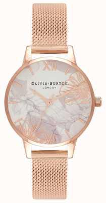 Olivia Burton | Frauen | abstrakte Blumen Roségold-Mesh-Armband | OB16VM11