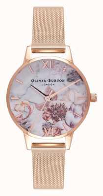 Olivia Burton | Frauen | Marmorblumen | roségoldes Netzarmband | OB16CS06