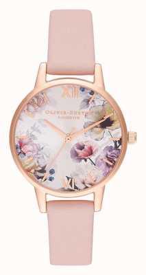 Olivia Burton | Frauen | Sonnenlicht florals | staubiges rosa Lederband | OB16EG115