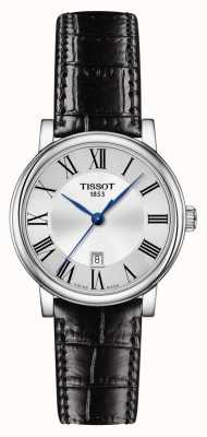 Tissot | carson classic | schwarzes Lederband | silbernes Zifferblatt | T1222101603300