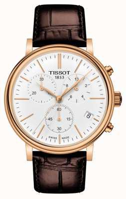 Tissot | carson premium chronograph | braunes Lederband | T1224173601100