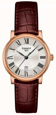 Tissot | carson premium lady | braunes Lederband | T1222103603300
