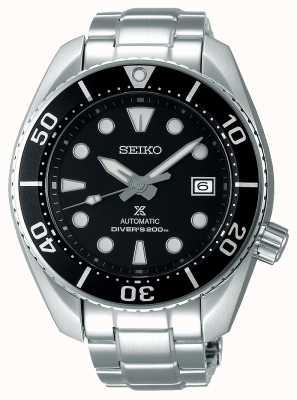 Seiko Herren Prospex Automatik Sumo Edelstahl Armband schwarzes Zifferblatt SPB101J1