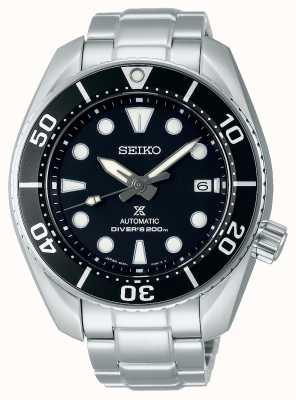 Seiko Herren Prospex automatische Sumo Edelstahl Armband schwarz Zifferblatt SPB101J1