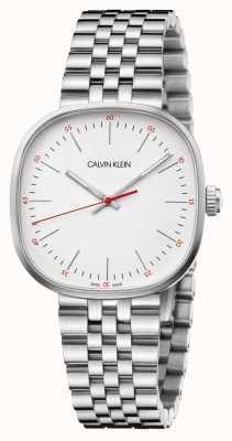 Calvin Klein | Herren Edelstahlarmband | silbernes quadratisches Zifferblatt | K9Q12136