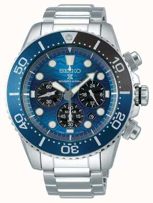 Seiko | prospex taucher | den Ozean retten blaues Chronographenzifferblatt | SSC741P1
