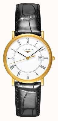 Longines Présence | 18 Karat Gelbgold | Herren 34mm | Lederriemen L47776110