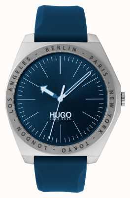 HUGO #act   blaues Kautschukband   blaues Zifferblatt 1530105