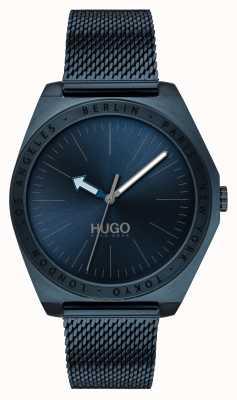 HUGO #act | blaues IP-Netz | blaues Zifferblatt 1530109