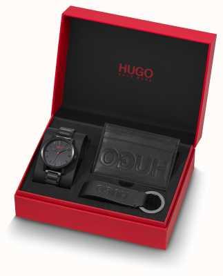 HUGO #rase | Geschenkset | Schlüsselring | Kartenhalter | schwarzes ip armband 1570096