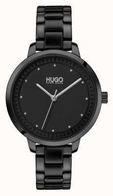 HUGO #achieve | schwarzes ip armband | schwarzes Zifferblatt 1540038