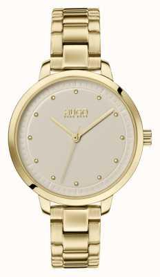 HUGO #achieve | gold ip armband | Champagner-Zifferblatt 1540039