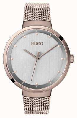 HUGO #go | roségold ip mesh | graues Zifferblatt 1540004