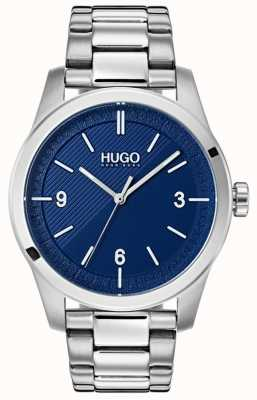 HUGO #create | Edelstahlarmband | blaues Zifferblatt 1530015