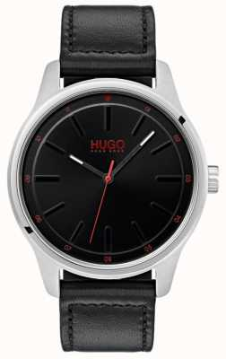 HUGO #dare   schwarzes Lederband   schwarzes Zifferblatt 1530018