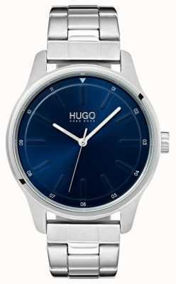 HUGO #dare | Edelstahlarmband | blaues Zifferblatt 1530020
