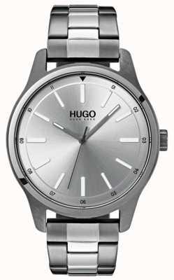 HUGO #dare | Edelstahlarmband | silbernes Zifferblatt 1530021