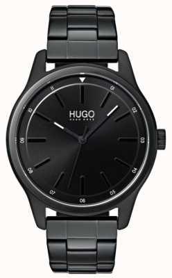HUGO #dare | schwarzes ip armband | schwarzes Zifferblatt 1530040