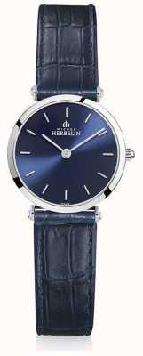 Michel Herbelin | Frauen | epsilon | blaues Lederband | blaues Zifferblatt | 17106/15BL