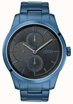 HUGO #entdecken   blaues ip armband   schwarzes Zifferblatt   1530086