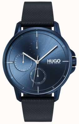 HUGO #focus | blaues Lederband | blaues Zifferblatt 1530033