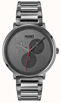HUGO #guide | graues ip armband | graues Zifferblatt 1530012