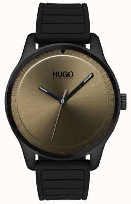 HUGO #move   schwarzes Kautschukband   Khaki-Zifferblatt 1530041