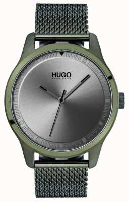 HUGO #move   grünes ip mesh armband   graues Zifferblatt 1530046