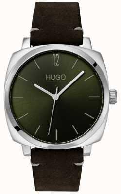 HUGO #own | schwarzes Lederband | grünes Zifferblatt 1530068