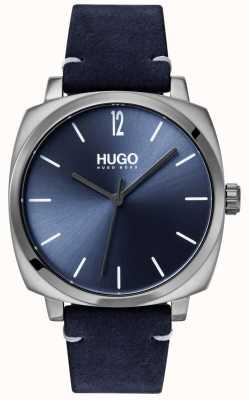 HUGO #own   blaues Lederband   blaues Zifferblatt 1530069
