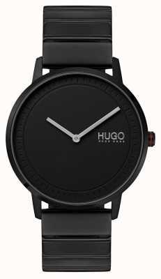 HUGO #echo | schwarzes ip armband | schwarzes Zifferblatt 1520020