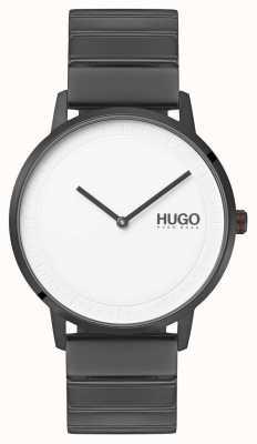 HUGO #echo   graues ip armband   weißes Zifferblatt 1520022