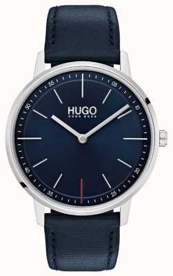 HUGO #exist | blaues Lederband | blaues Zifferblatt 1520008
