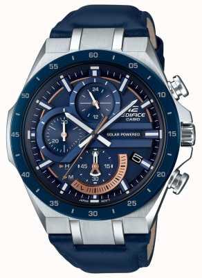 Casio | Gebäude solarbetrieben | Chronograph | blaues Leder | EQS-920BL-2AVUEF