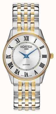 Roamer | Frauen | Sonate | zweifarbiges Armband | silbernes Zifferblatt | 520820 47 15 50