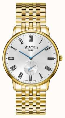 Roamer | Männergalaxie | vergoldeter edelstahl | weißes Zifferblatt | 620710 48 15 50