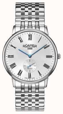 Roamer | Elemente der Männer Edelstahl-Silberarmband | schwarzes Zifferblatt | 650810 41 55 50