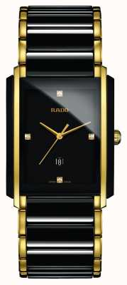 Rado | integrale Diamanten High-Tech-Keramik | schwarzes quadratisches Zifferblatt R20204712