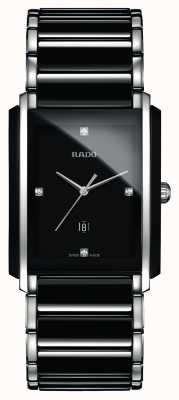 Rado | integrale Diamanten High-Tech-Keramik | schwarzes quadratisches Zifferblatt R20206712
