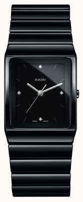Rado Ceramica Diamanten quadratisches Zifferblatt Keramik Armbanduhr R21700702