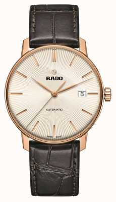 RADO Coupole klassische automatische braune Lederarmbanduhr R22861115