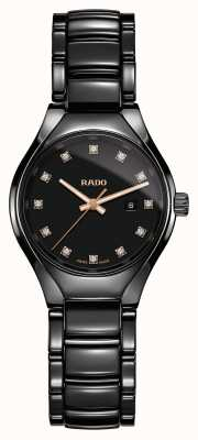 Rado | wahre Diamanten Plasma-Hightech-Keramik | schwarzes Zifferblatt R27059732