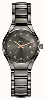 Rado | wahre Diamanten Plasma-Hightech-Keramik | graues Zifferblatt R27060732
