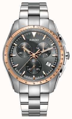 RADO Xxl hyperchrome Chronograph Edelstahl grau Zifferblatt Uhr R32259163