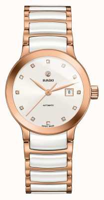 RADO Centrix automatische Diamanten Keramik Armbanduhr R30183742